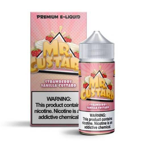 Líquido Strawberry Vanilla Custard  - MR. Custard Premium E-liquid