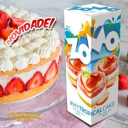 LÍQUIDO ZOMO - MY TROPICAL CAKE E-JUICE