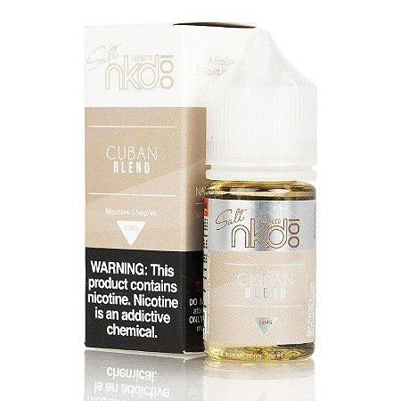 Líquido Salt Nicotina - Cuban Blend - NKD 100