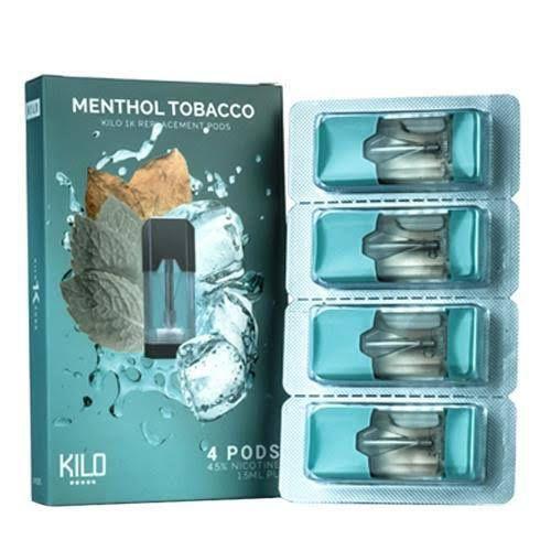 PODs (cartucho) c/ Líquidos Menthol Tobacco Kilo