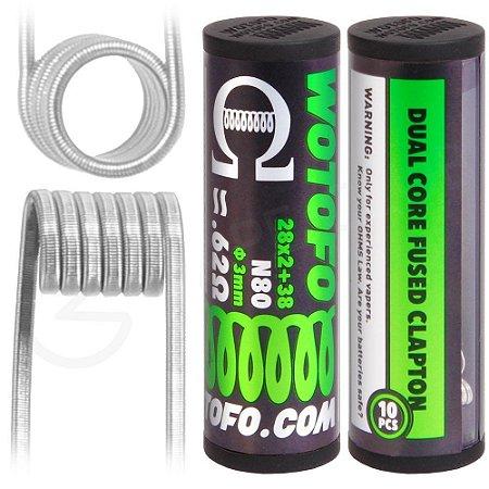 PREBUILT COIL DUAL FUSED CLAPTON N80  0.62 Ohm  / Para RTA y RDA - WOTOFO