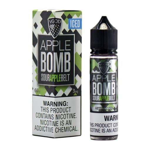Líquido Apple Bomb  ICED Sour Apple Belt  Premium American - Vgod