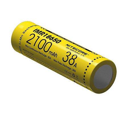 Bateria  18650 de Lithium POWER IMR 38A 2100 mAh -  Nitecore