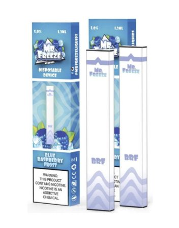 Pod Descartável Blue Raspberry Frost Frost MR FREEZE 300puffs