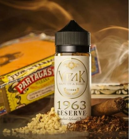 LÍQUIDO RICH HAZELNUT INFUSED CUBAN CIGAR 1963 RESERVE - VAPE OF A KIND