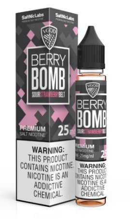 Líquido Berry Bomb Sour Strawberry Belt  SaltNic / Salt Nicotine - VGOD SaltNic