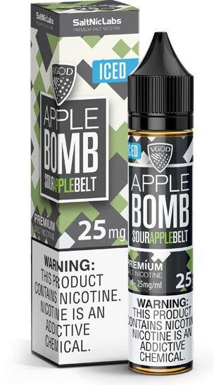 Líquido Apple Bomb Belt ICED - SaltNic / Salt Nicotine - VGOD SaltNic