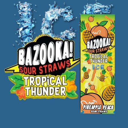 LÍQUIDO BAZOOKA! SOUR STRAWS - PINEAPPLE PEACH ICE