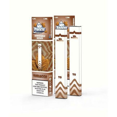 Pod Descartável Tobacco  MR FREEZE  300 puffs