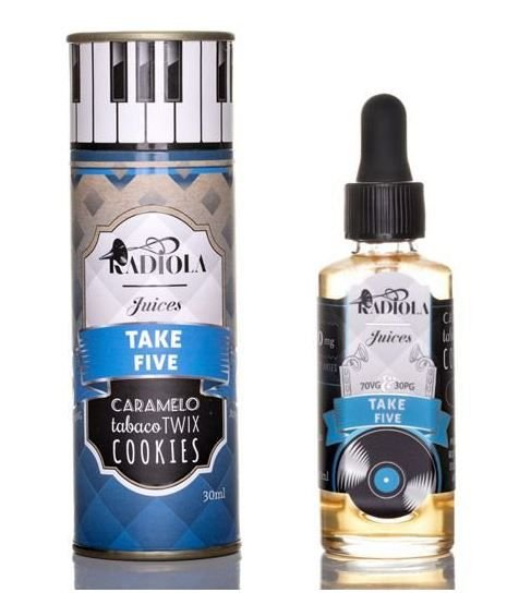 LIQUIDO TAKE FIVE - CARAMELO TABACO TWIX COOKIES - RADIOLA JUICES