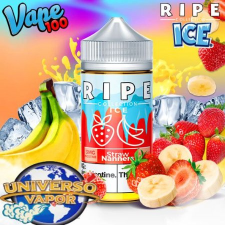LÍQUIDO RIPE COLLECTION STRAW NANNERS ICE - RIPE VAPE 100