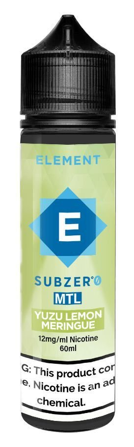 LÍQUIDO ELEMENT SUBZERO MTL YUZU LEMON MERINGUE - ELEMENT