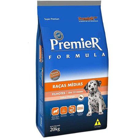 Ração premier super premium raças médias filhotes 20kg