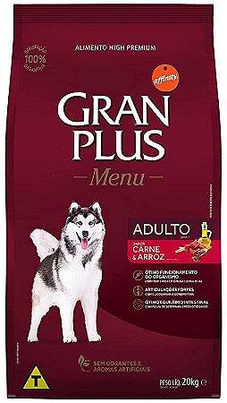 Ração Gran Plus adultos super premium 20kg