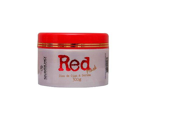 RED MASK 300G - órmula fortalecedora com serina. Promove revitalização intensa deixando fios macios e maleáveis realçando o brilho dos cabelos.
