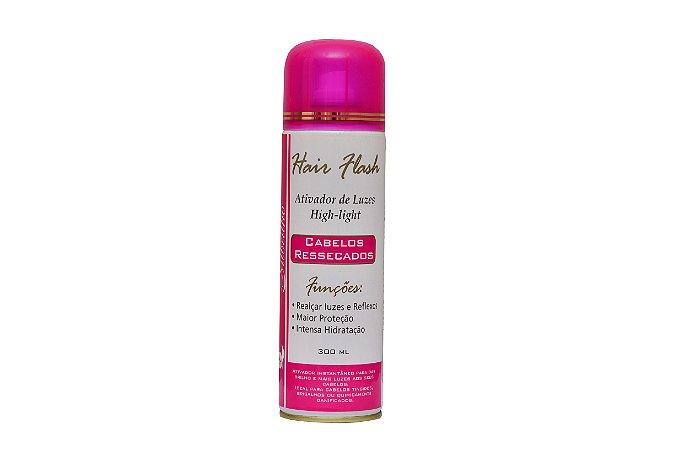 HAIR FLASH ATIVADOR DE LUZES 300ML (CABELOS RESSECADOS)  - Evita fios ressecados ou danificados
