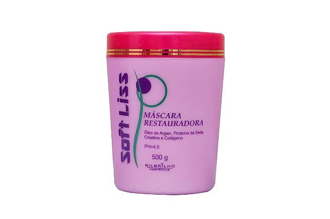 SOFT LISS MÁSCARA RESTAURADORA 500g - Ajuda na reconstrução da fibra capilar, promovendo uma profunda nutrição