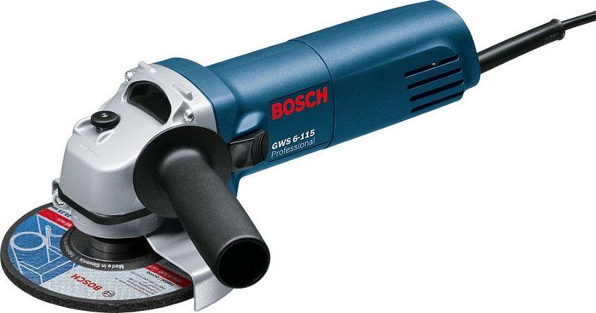 Esmerilhadeira angular Bosch GWS 6-115 Professional   220V