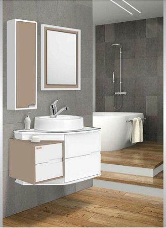 Móvel para banheiro Evidence 72cm Capuccino