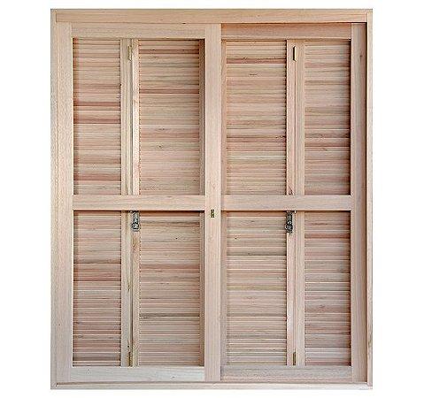 Porta-janela Rondosul pantográfica EWK 460 Angelim 120x213cm