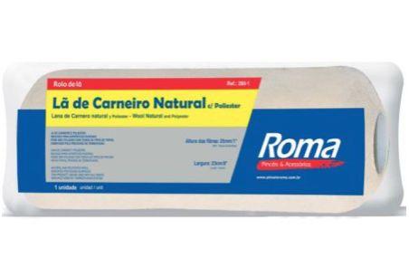 Rolo de Lã 23 cm Carneiro Natural - Cód. 280.1 - ROMA