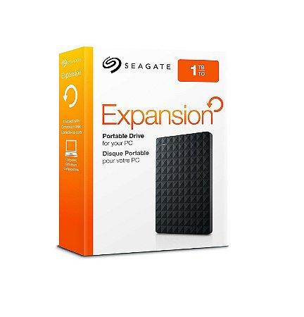 HD Externo Seagate Expansion 1TB Portátil USB 3.0 Preto