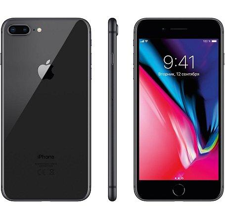 """Apple iPhone 8 Plus Cinza Espacial, 64 GB, Tela Retina HD 5.5"""" Polegadas, 4G, NFC, Cam 12mp, Chip A11 Bionic, 3D Touch ID, iOs 11"""