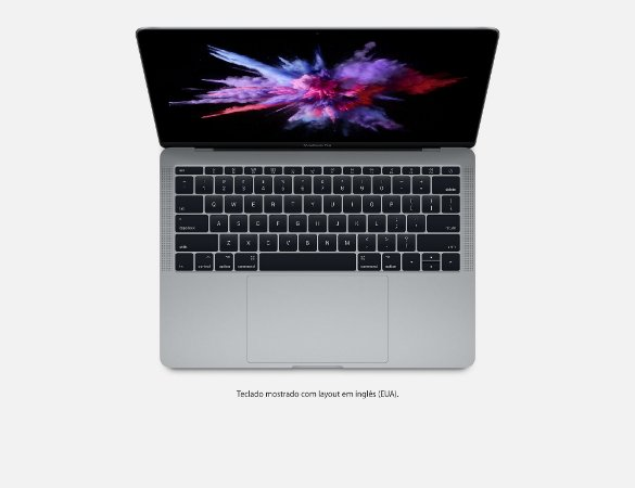 "Apple Macbook Pro 13,3"" Polegadas, 2.3GHz Dual Core, Intel Core i5, 8gb, 256gb, 2017 Novo e Lacrado"