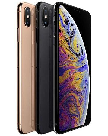 "Novo iPhone XS Max, Tela Super Retina HD de  6,5"" Polegadas, 64 GB, Face ID, iOS 12, Camera 12mp, 4G, Wi-Fi"