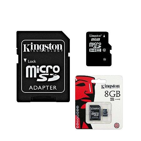 Cartão de Memória Kingston MicroSDHC Card 8GB com Adaptador Class SDC4 / 8 GB