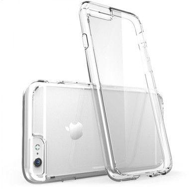 Capinha TPU flexível transparente para IPhone 6 Plus / 6s Plus + Película de Vidro