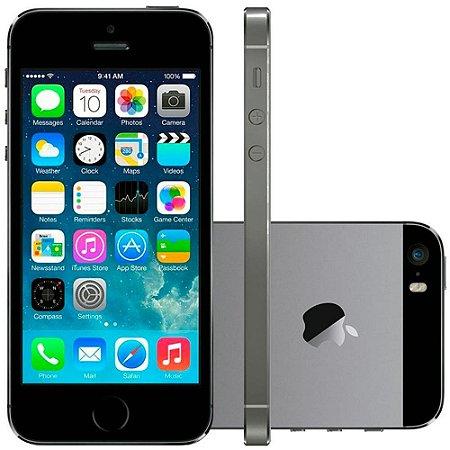 """Apple iPhone 5s 16GB Modelo A1549 Anatel, Chip A7, iOS 8, Tela 4"""" polegadas, Câmera 8MP, 4G, Desbloqueado - Cinza Espacial"""