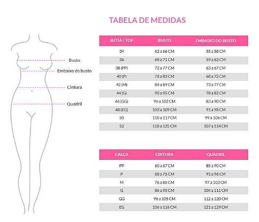 tabela de medidas dos conjuntos