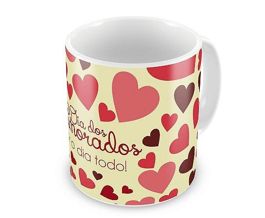 Caneca Personalizada Dia Dos Namorados Amor O Dia Todo Estampe