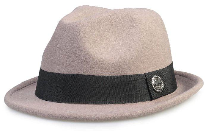Chapéu Fedora Cinza Aba curta 4cm