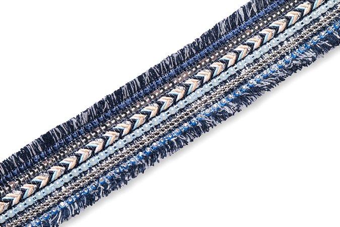 Faixa Azul Marinho Arrow Lint - Coleção Ethnic