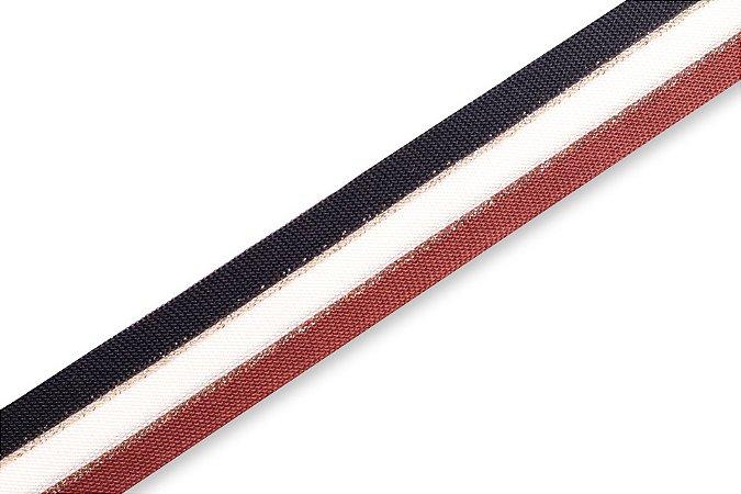 Faixa Preta Branca e Caramelo - Coleção Stripes