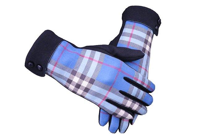 Luva Azul Xadrez