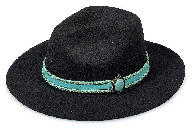 Chapéu Fedora Customizado Faixa Pedra verde Custom Hats