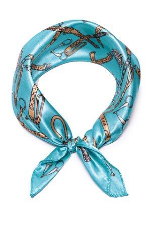Lenço Belt Azul Ciano - Coleção Lenço