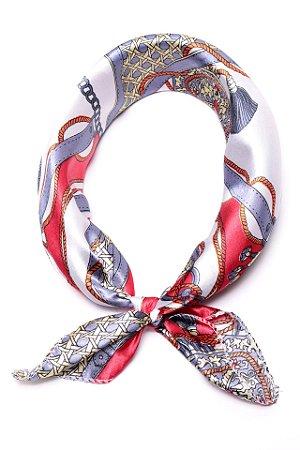 Lenço Celtic Knot Vermelho - Coleção Lenço