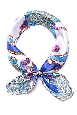 Lenço Celtic Knot Azul - Coleção Lenço