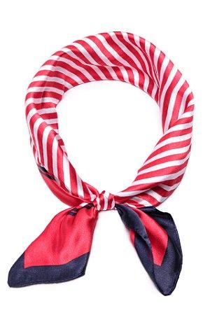 Lenço Stripes Vermelho - Coleção Lenço
