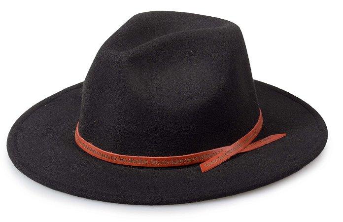 Chapéu Fedora Preto Customizado Pai Nosso Caramelo Custom Hats