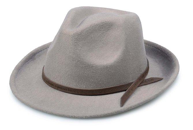 Chapéu Fedora Cinza Customizado Pai Nosso Marrom Custom Hats