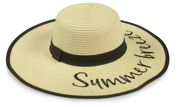 Chapéu Floppy Praia Palha Bege Summer Breeze