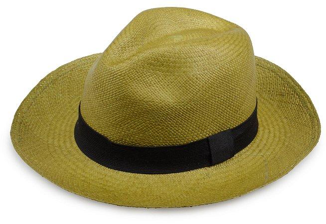 Chapéu Panamá Verde Musgo Aba Média Edição Limitada