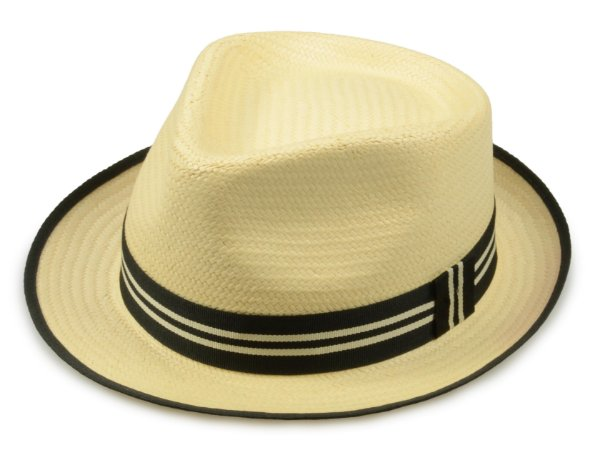 Chapéu Fedora Palha Bege Aba 4,5cm Premium Hats