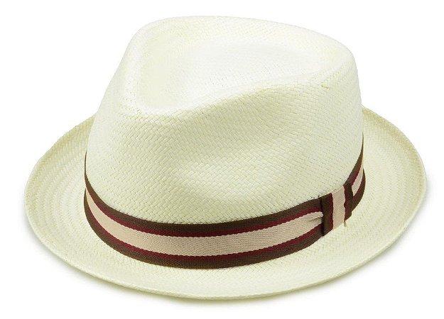 Chapéu Fedora Palha Creme 4,5cm Premium Hats