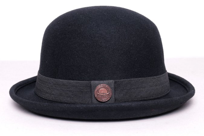 Chapéu Coco Preto Chaplin Clássico 100% Lã Super Macio